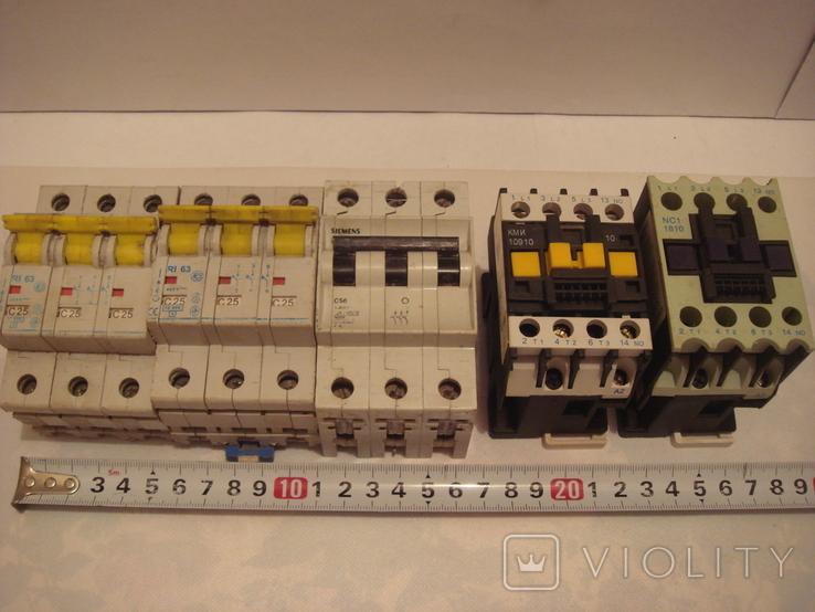 Пускатели 2 шт.Автоматы 3 шт., фото №2