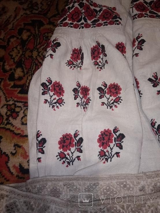 Сорочка вишета хрестиком, фото №3
