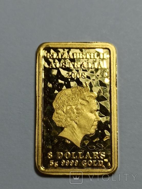 8 долларов, Австралия 2008, 5 г. 9999, фото №5