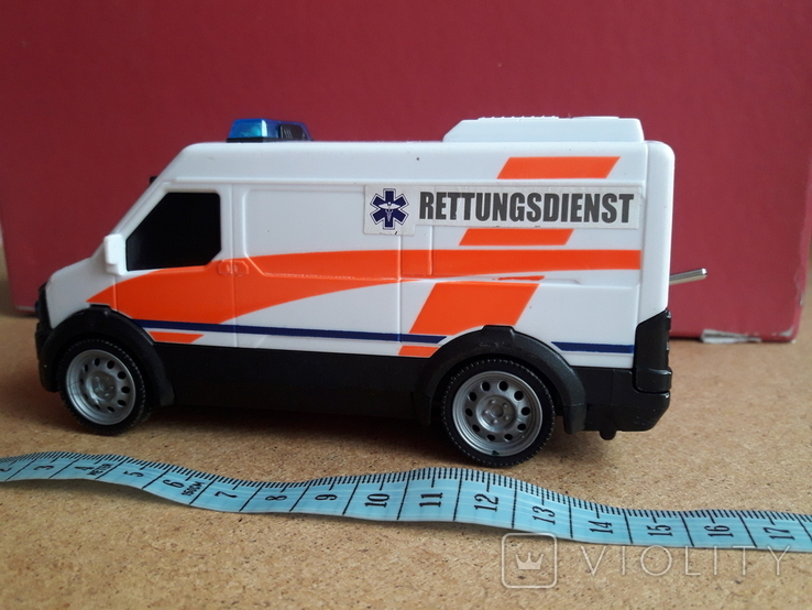 Микроавтобус -фургон Скорая помощь с тумблером, Dickie toys, фото №2