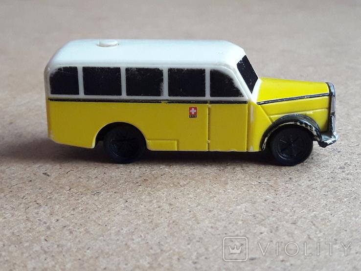 Винтажный автобус Скорая помощь , на батарейка, Migros Швейцария, фото №2