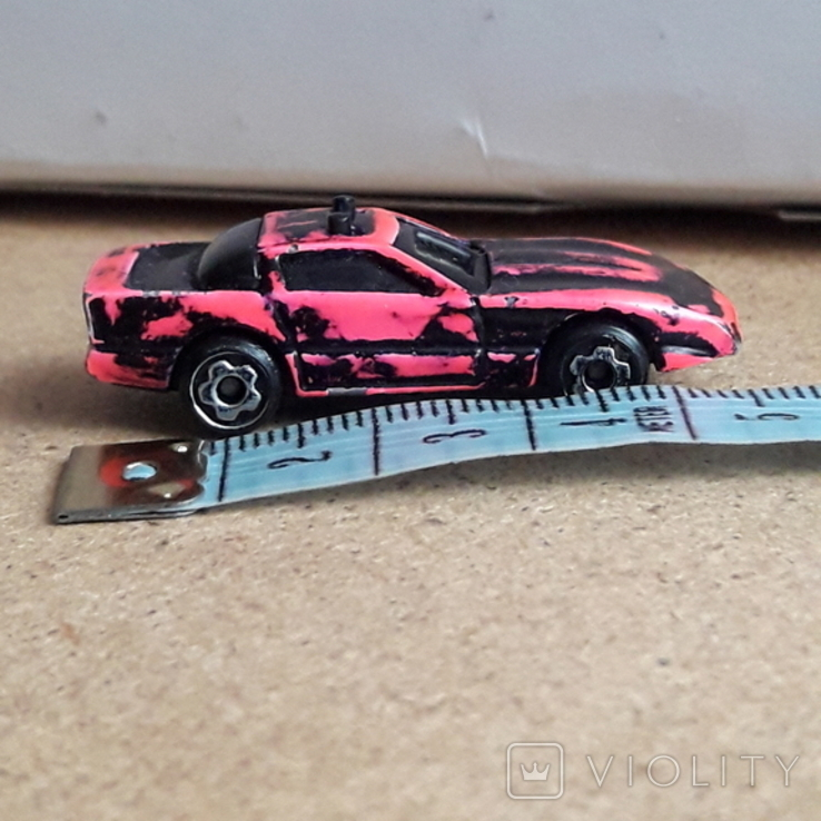 Крохотная гоночная машинка, Hot racies 1989, Малайзия, металл,, фото №3