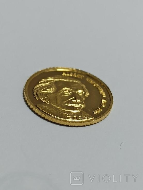 Монета 5 долларов 2004 год. Марианские острова Альберт Эйнштейн, фото №3