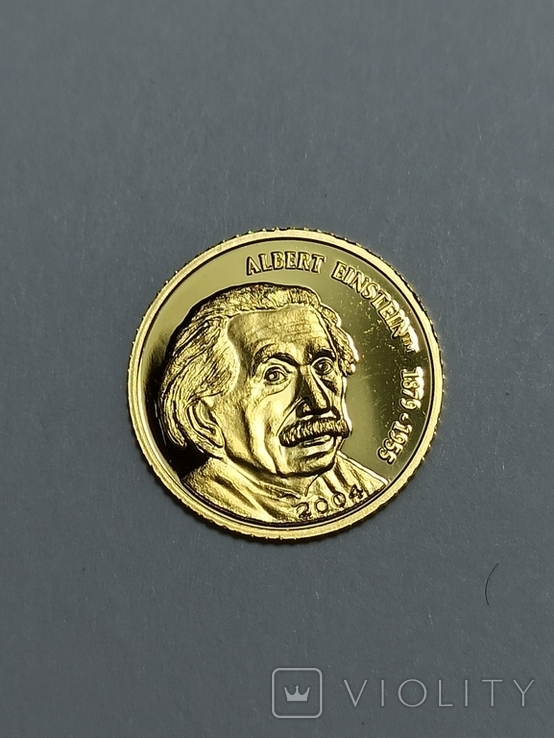 Монета 5 долларов 2004 год. Марианские острова Альберт Эйнштейн, фото №4