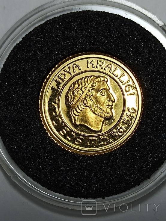 1000000 лир 1997 год Турция золото 1/25 унц.9999, фото №5