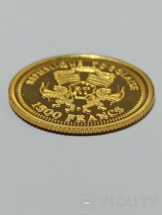 Того 1500 франков, 2005 год. 0.999, фото №4