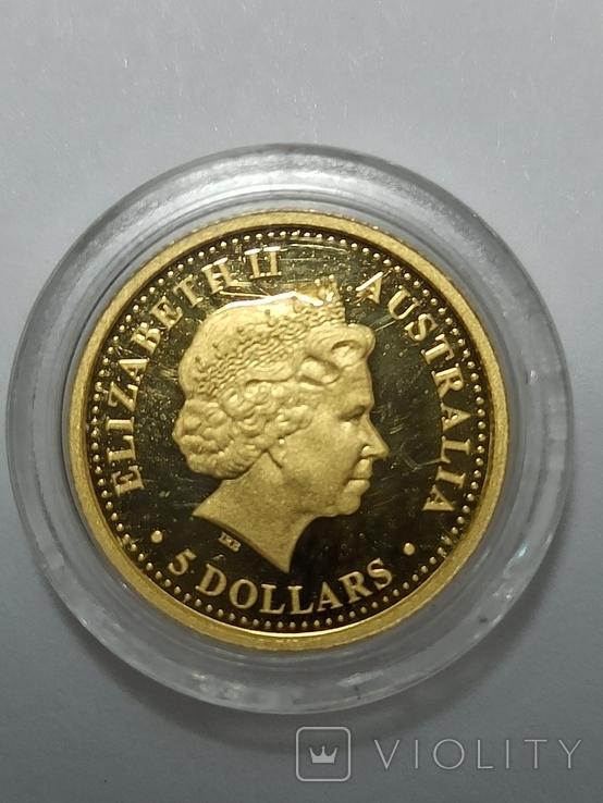 5 долларов Австралия 2006 год 1/25 OZ Crocodile, фото №3