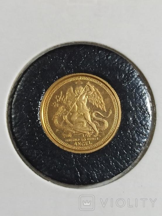 Монета Ангел , остров Мен, 1/10 OZ 9.999, 1986 год, фото №5