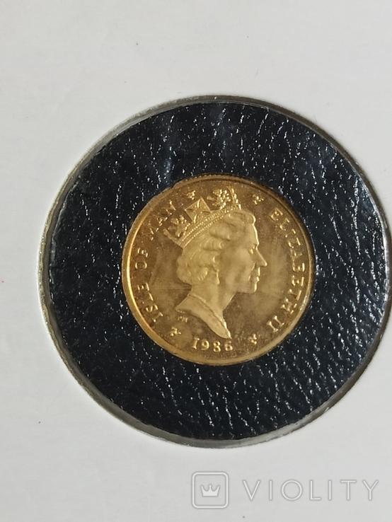 Монета Ангел , остров Мен, 1/10 OZ 9.999, 1986 год, фото №6