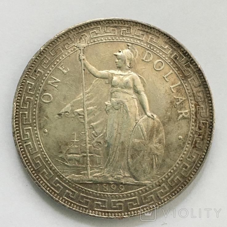 Торговый доллар 1899 года, фото №2