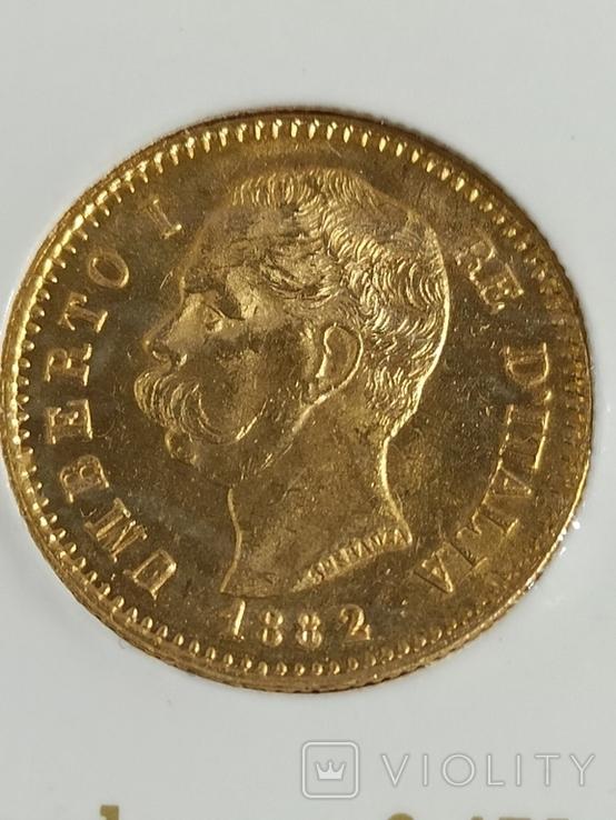 20 лир 1882 год, фото №4