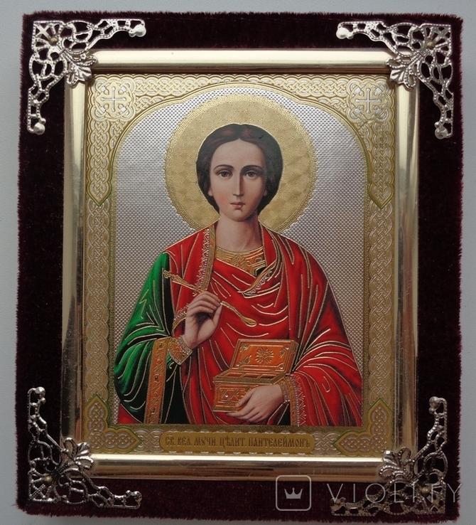 Икона Пантелеймон Целитель 15 см * 13 см, фото №2