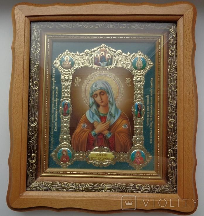 Икона Умиление Пресвятой Богородицы 27 см * 24 см, фото №2
