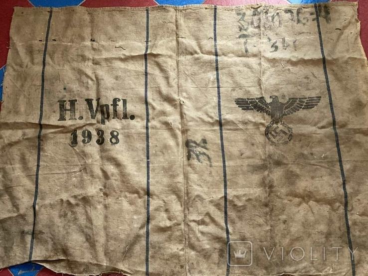 Брезентовая ткань со свастикой 1938 г., фото №4