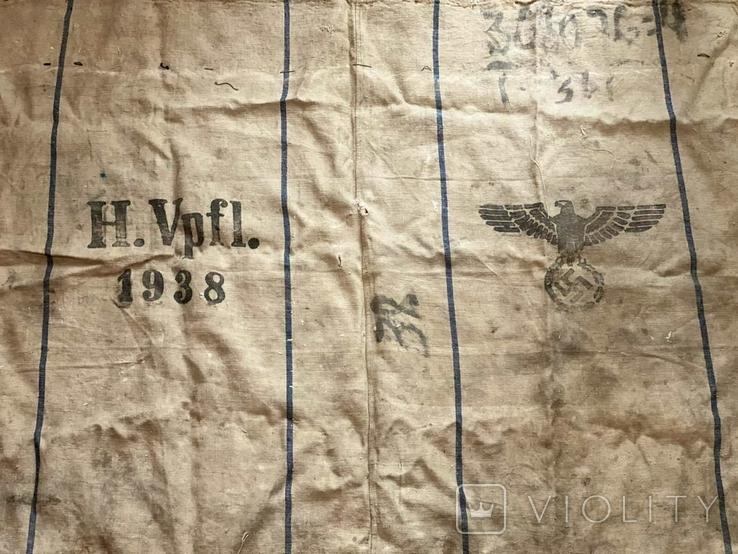 Брезентовая ткань со свастикой 1938 г., фото №5