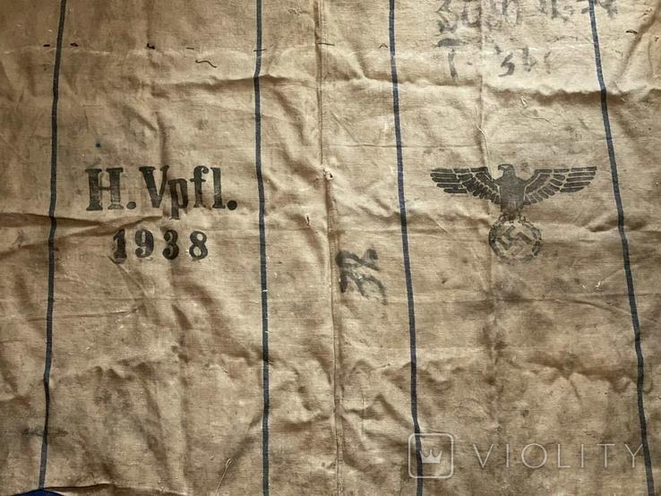 Брезентовая ткань со свастикой 1938 г., фото №6