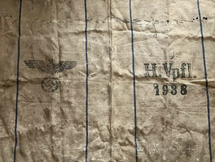 Брезентовая ткань со свастикой 1938 г., фото №7