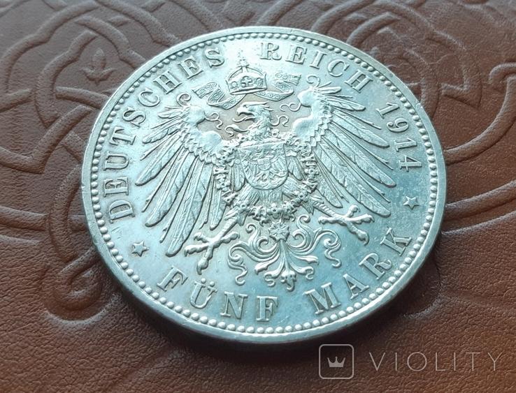 5 марок 1914 Бавария. Людвиг III, фото №6
