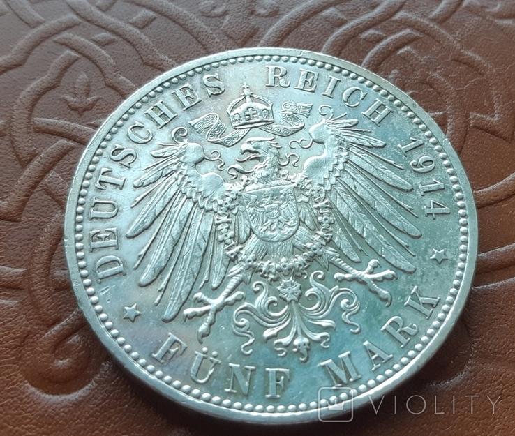 5 марок 1914 Бавария. Людвиг III, фото №8