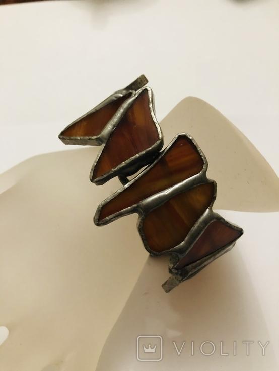 Браслет ручной работы срез сердолика, фото №3