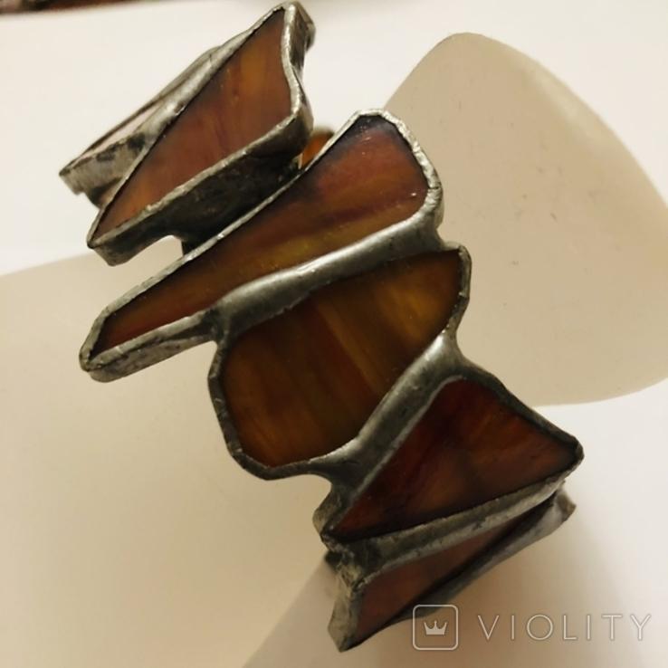 Браслет ручной работы срез сердолика, фото №2