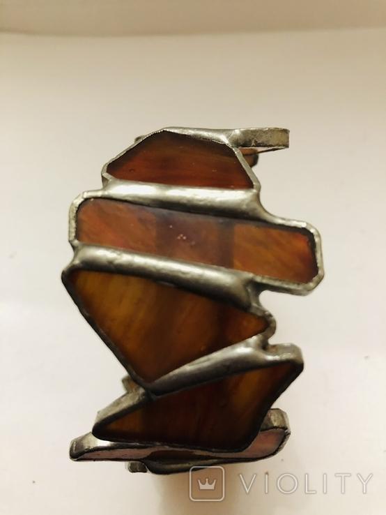 Браслет ручной работы срез сердолика, фото №9