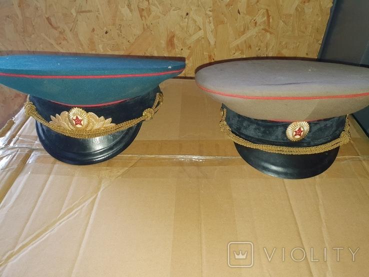 Офицерские фуражки СССР артиллериста СА( 2 шт одним лотом), фото №2
