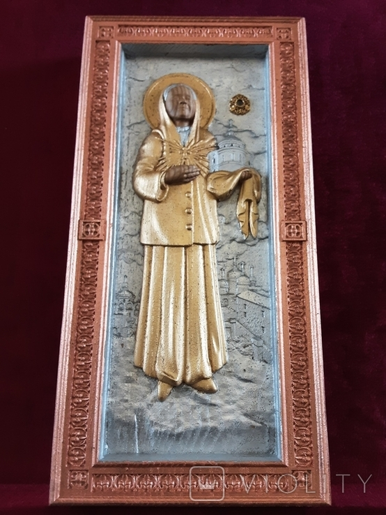 Мощевик-икона Святая Матрона Московская с частицей., фото №7
