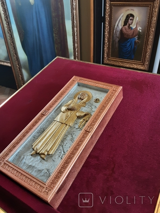 Мощевик-икона Святая Матрона Московская с частицей., фото №8