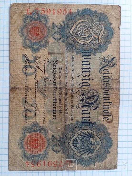 20 марок 1914 рік, фото №2