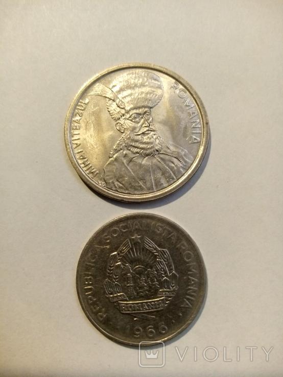 Румыния 1 лей 1966,100 лей 1992 г 2 шт, фото №3
