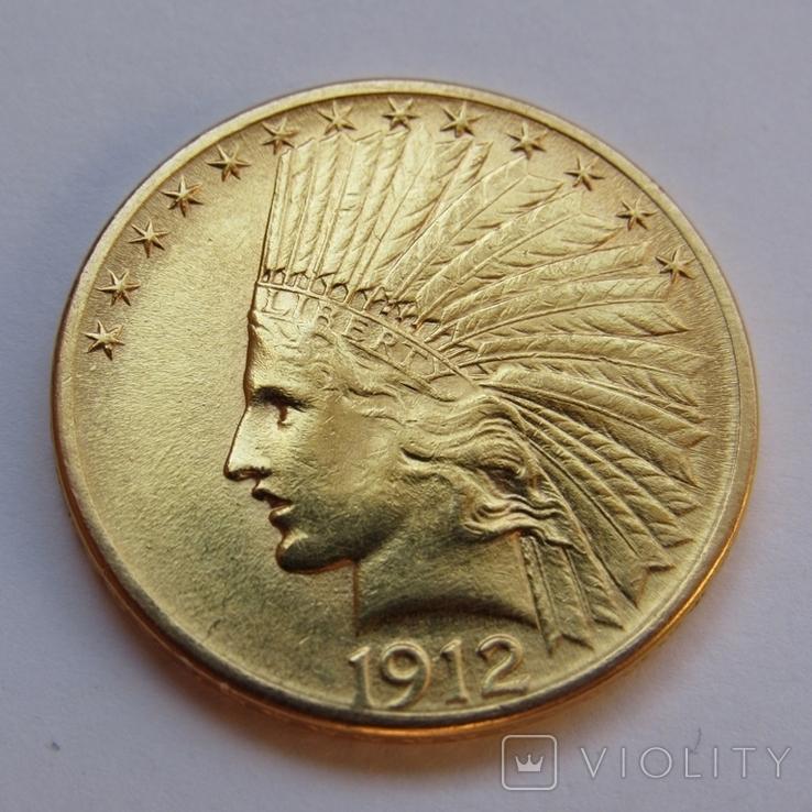10 долларов 1912 г. США (Индеец), фото №4