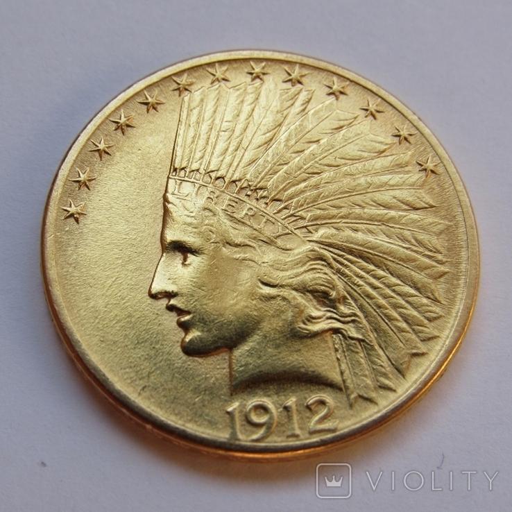 10 долларов 1912 г. США (Индеец), фото №6