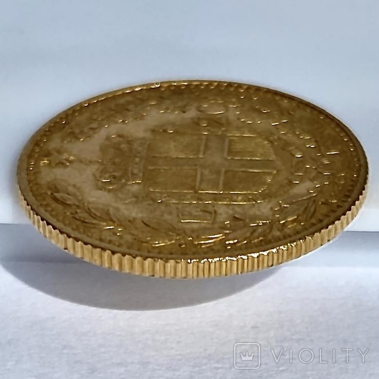 20 лир. 1885. Умберто I. Италия (золото 900, вес 6,44 г), фото №7