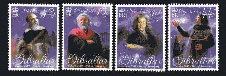 Гибралтар 2009 - Год астрономии. космос. Астрономы. серия
