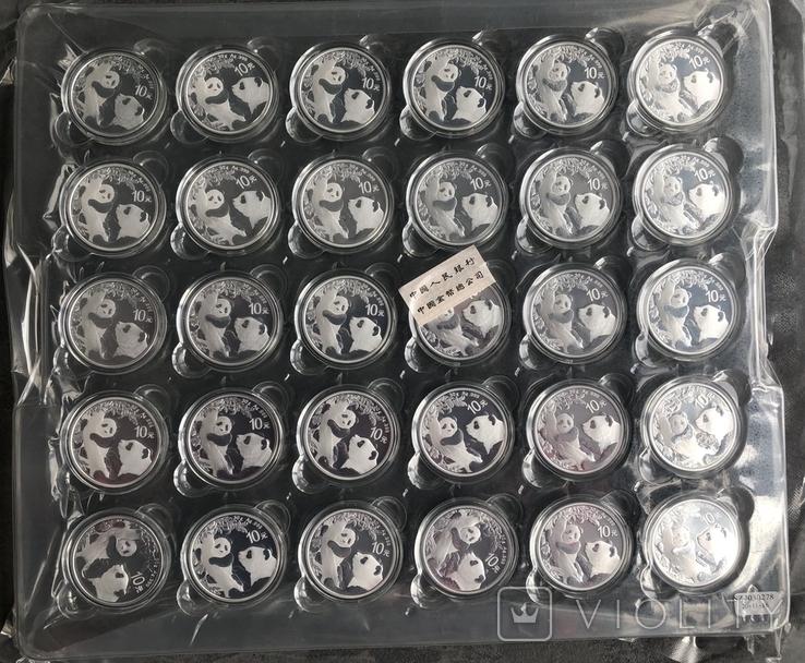 30 монет по 10 юаней 2021 год Китай серебро 900 грамм 999,9, фото №2