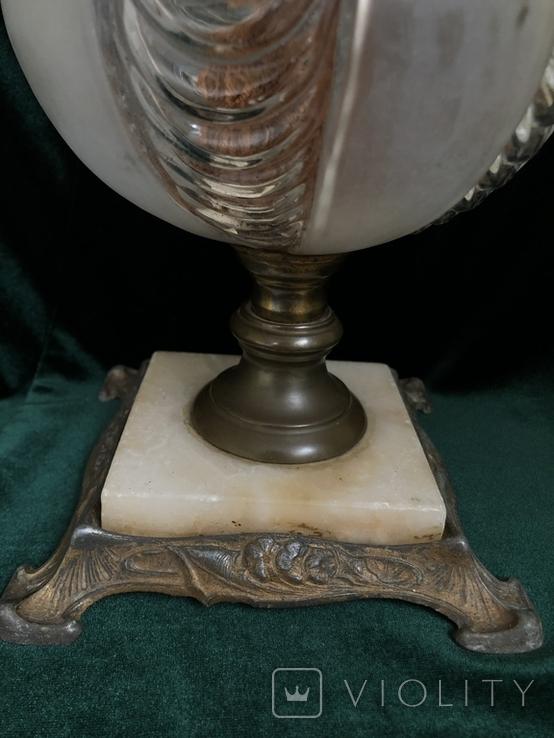 Старовинна сецесійна лампа, початок 20 ст, фото №4