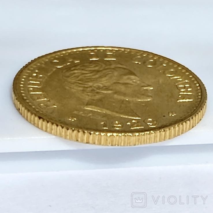 5 песо. 1929. Колумбия (золото 917, вес 7,97 г), фото №8