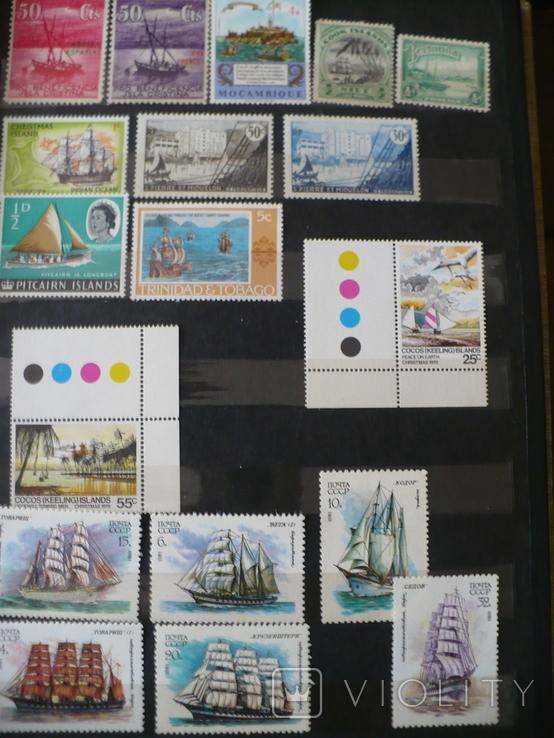 Парусники на марках колоний и разнх стран MNH** в альбоме, фото №5