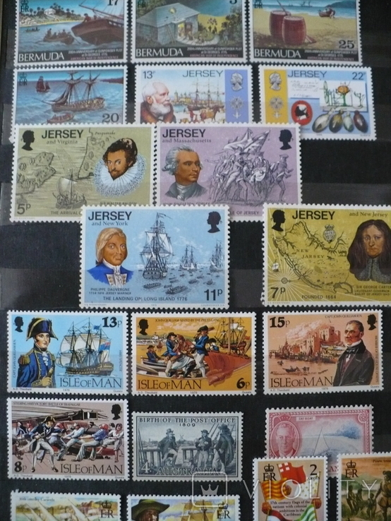 Парусники на марках колоний и разнх стран MNH** в альбоме, фото №9