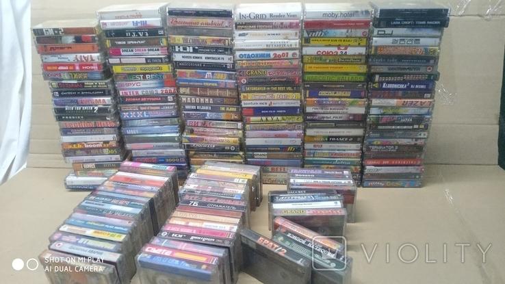 Аудиокассеты 90-2000 годов 180 штук, фото №2