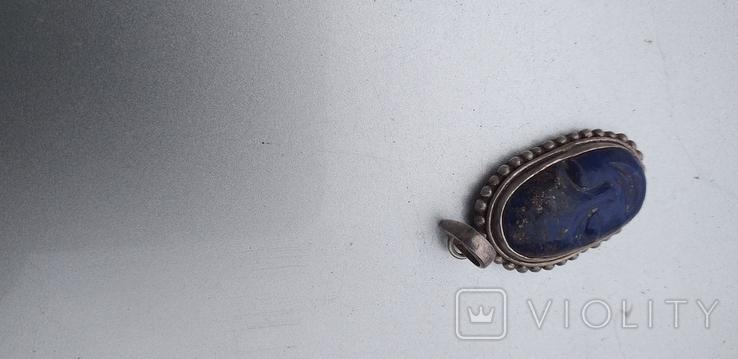 Серебряный кулон с вставкой 925 пробы., фото №3