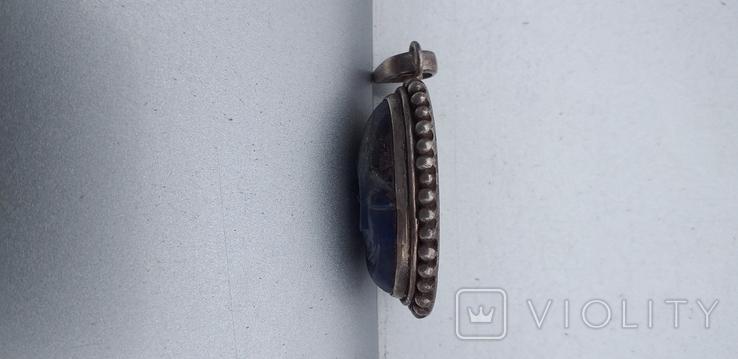 Серебряный кулон с вставкой 925 пробы., фото №5