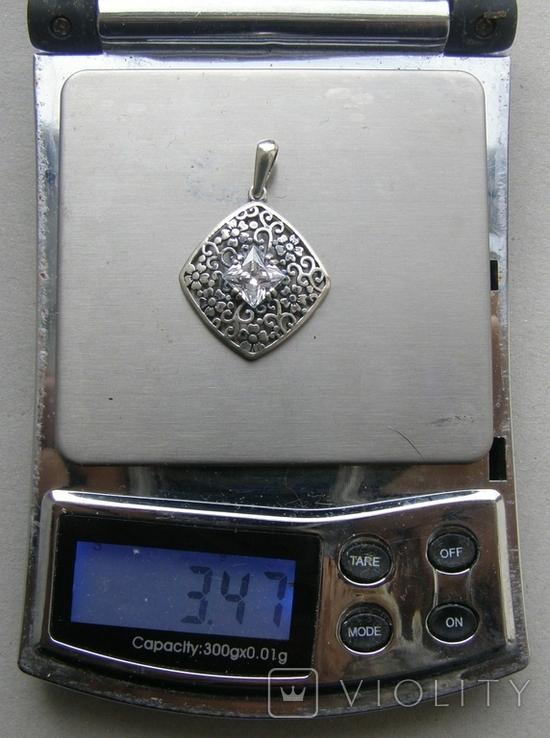 Кулон. Серебро 925 пр. Вес - 3,47 г., фото №2