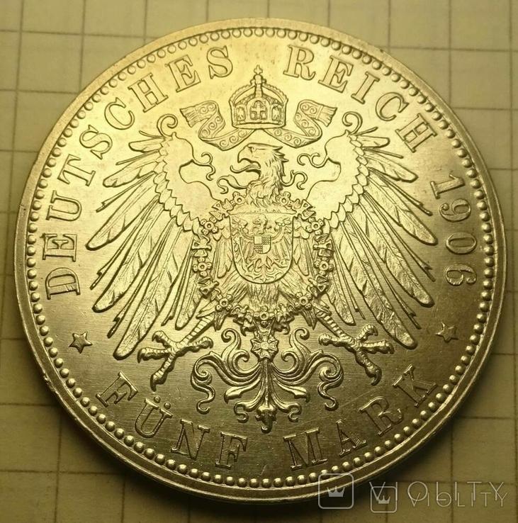 5 марок, 1906 год, Баден,, фото №6