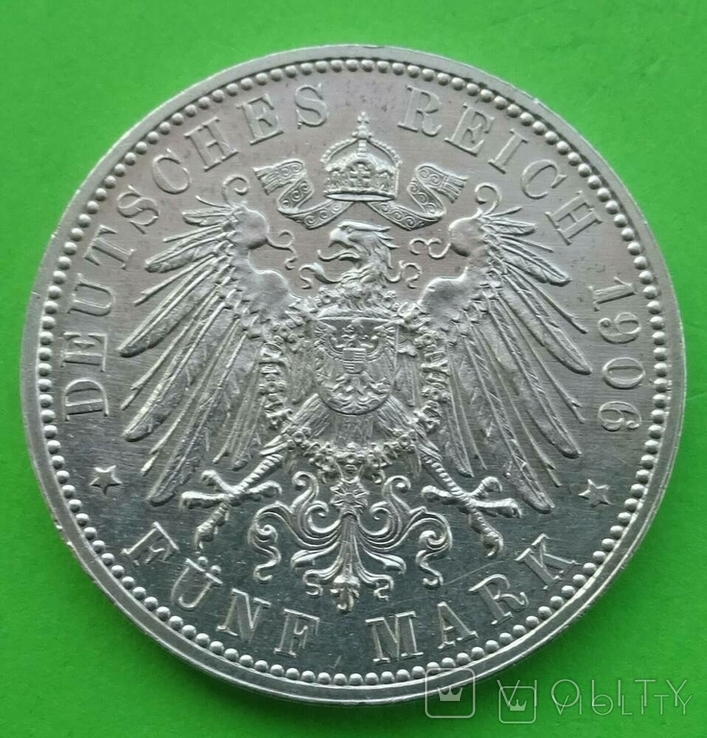 5 марок, 1906 год, Баден,, фото №7