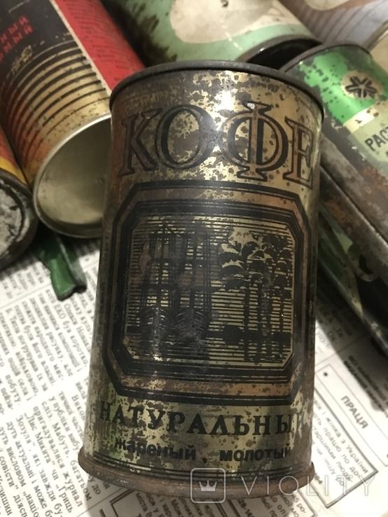 Кава ссср 1974-1985 . 6 банок, фото №7