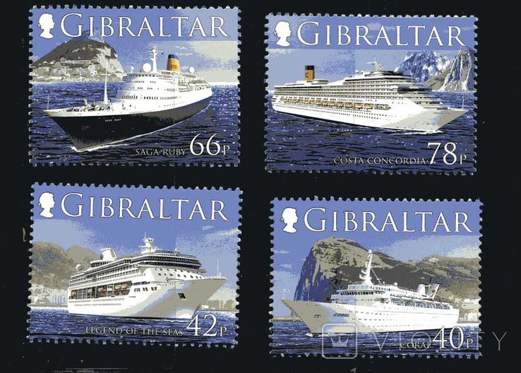 Гибралтар - Круизные суда. Транспорт. Costa Concordia(!). серия