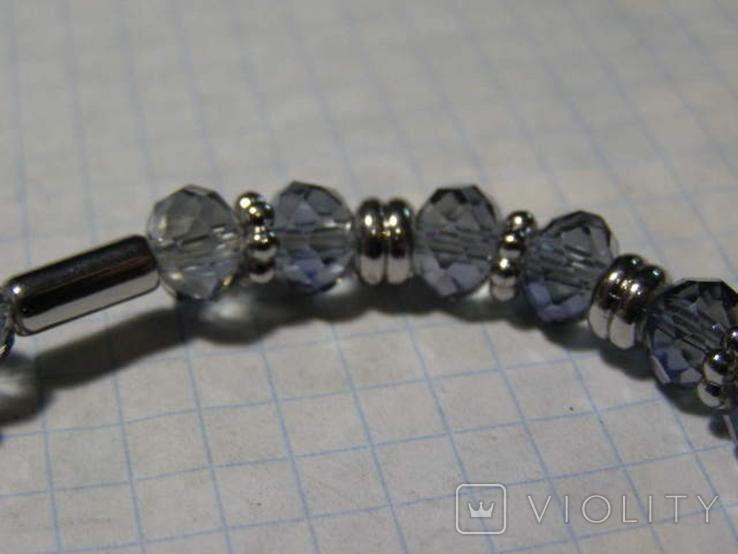 Браслет стеклянные бусины, фото №5