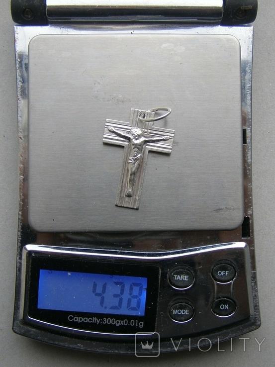 Крестик. Серебро. Вес - 4,38 г., фото №2